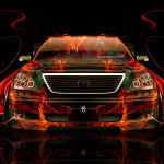 Toyota Celsior JDM Tuning Front Fire Car 2014
