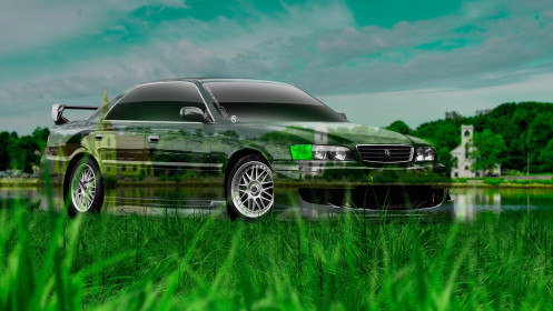 Toyota-Chaser-JZX100-JDM-Crystal-Nature-Car-2014-Photoshop-HD-Wallpapers-design-by-Tony-Kokhan-[www.el-tony.com]