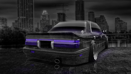 Toyota-Crown-JDM-Crystal-City-Car-2014-Violet-Neon-HD-Wallpapers-design-by-Tony-Kokhan-[www.el-tony.com]
