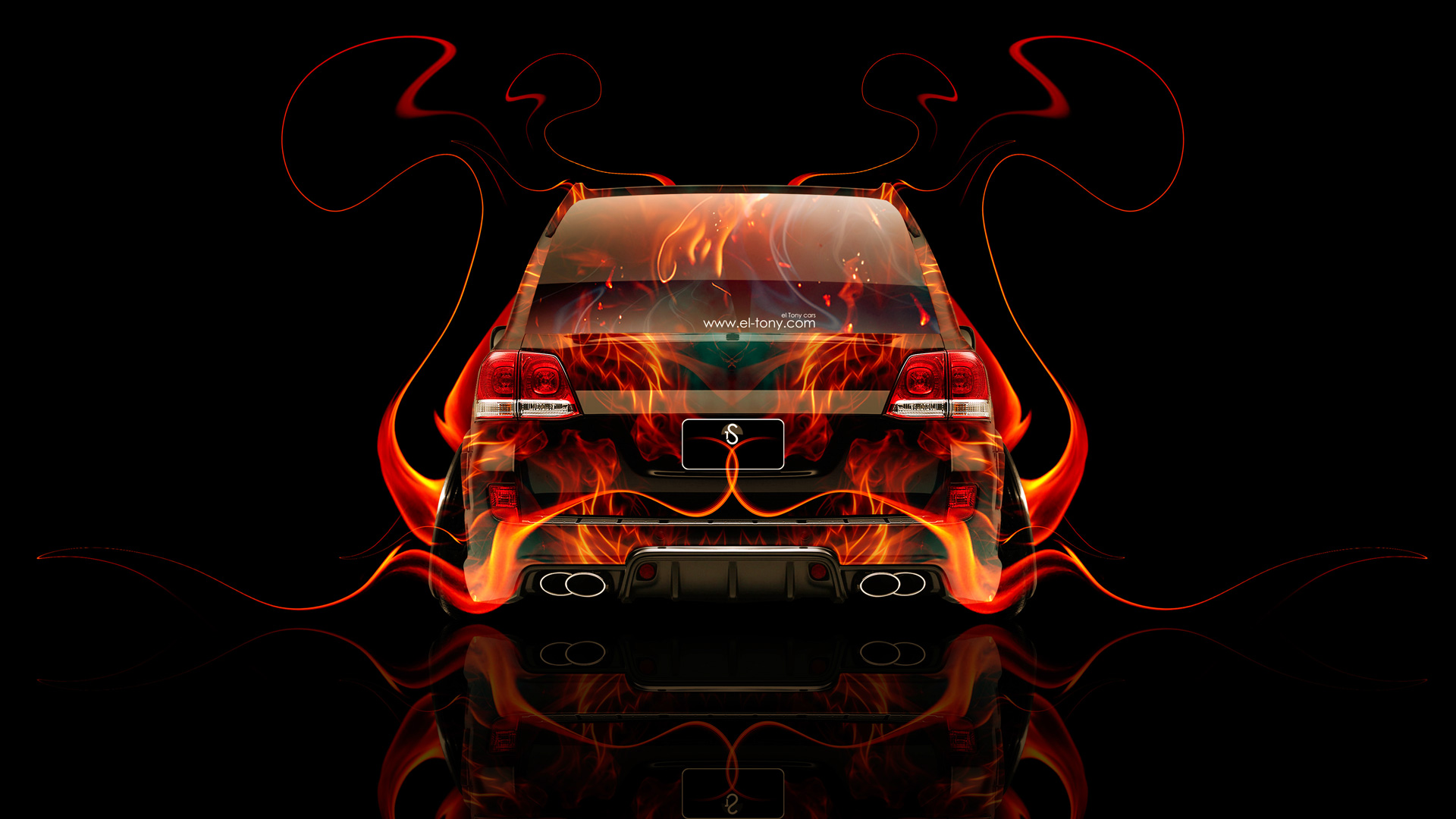 Toyota Land Cruiser 200 JDM Back Fire Abstract