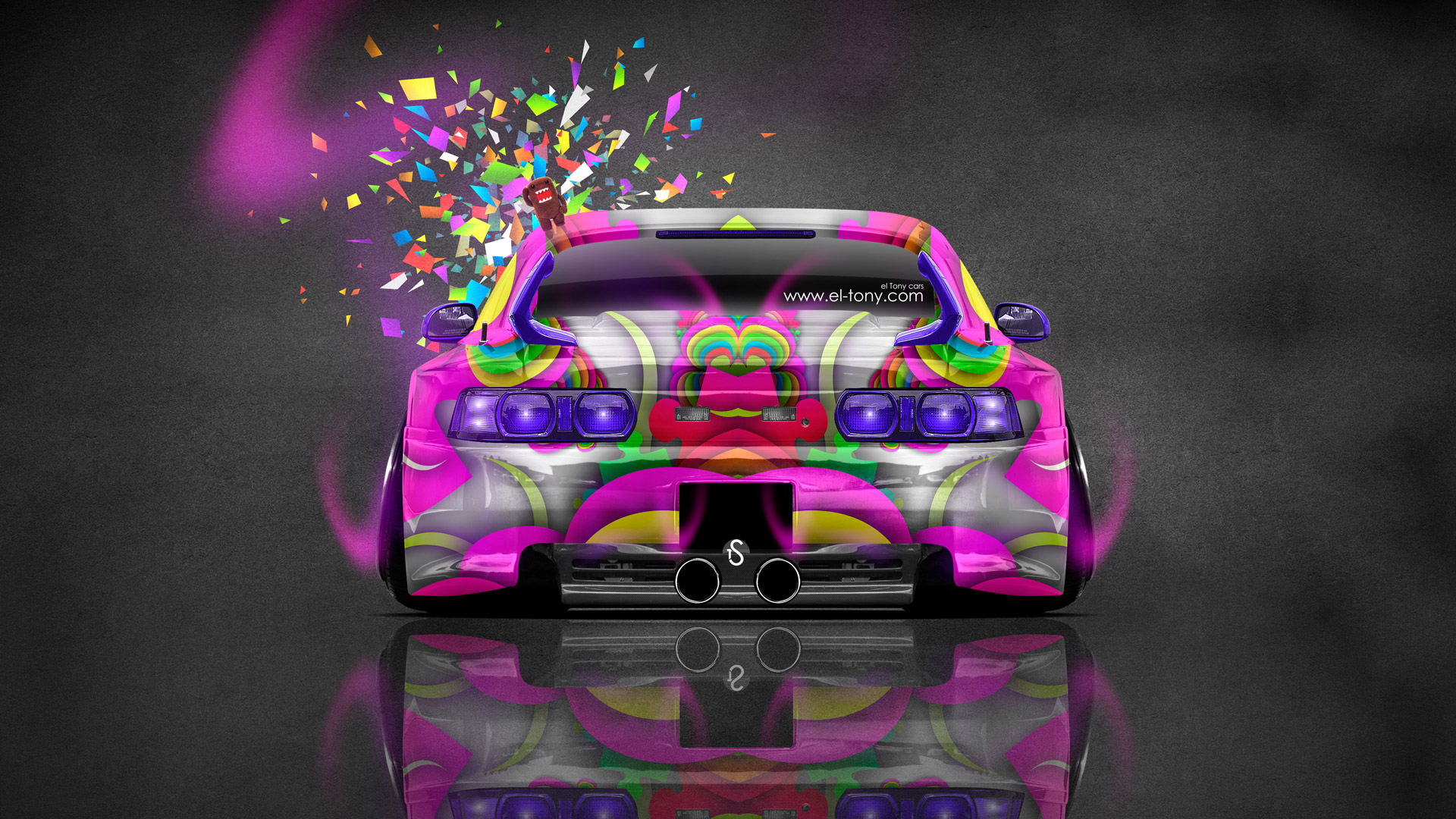 Toyota-MR2-Back-JDM-Style-Domo-Kun-Toy-Car-2014-HD-Wallpapers-design-by-Tony-Kokhan-[www.el-tony.com]