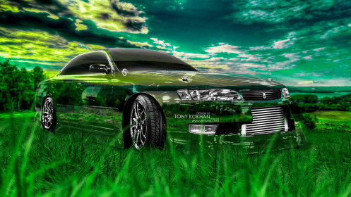 Toyota-Mark2-JZX90-JDM-Crystal-Nature-Car-2014-Creative-Photoshop-HD-Wallpapers-design-by-Tony-Kokhan-[www.el-tony.com]