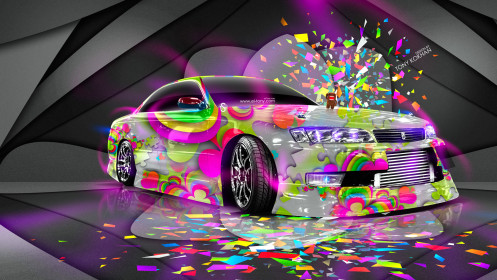 Toyota-Mark2-JZX90-JDM-Style-Domo-Kun-Toy-Car-2014-Multicolors-HD-Wallpapers-design-by-Tony-Kokhan-[www.el-tony.com]