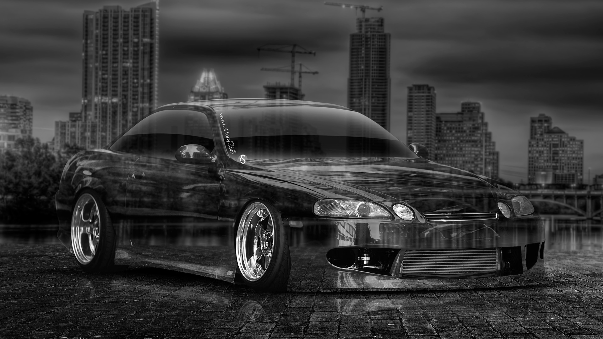 Toyota Soarer JDM Crystal City Car 2014 Art