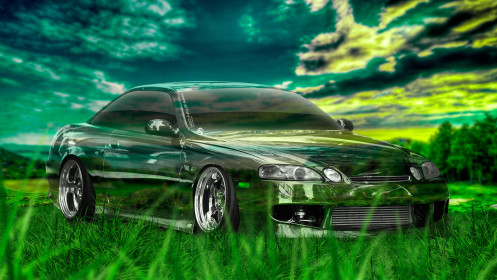Toyota-Soarer-JDM-Crystal-Nature-Car-2014-Photoshop-HD-Wallpapers-design-by-Tony-Kokhan-[www.el-tony.com]