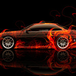 Toyota Soarer JDM Side Fire Abstract Car 2014