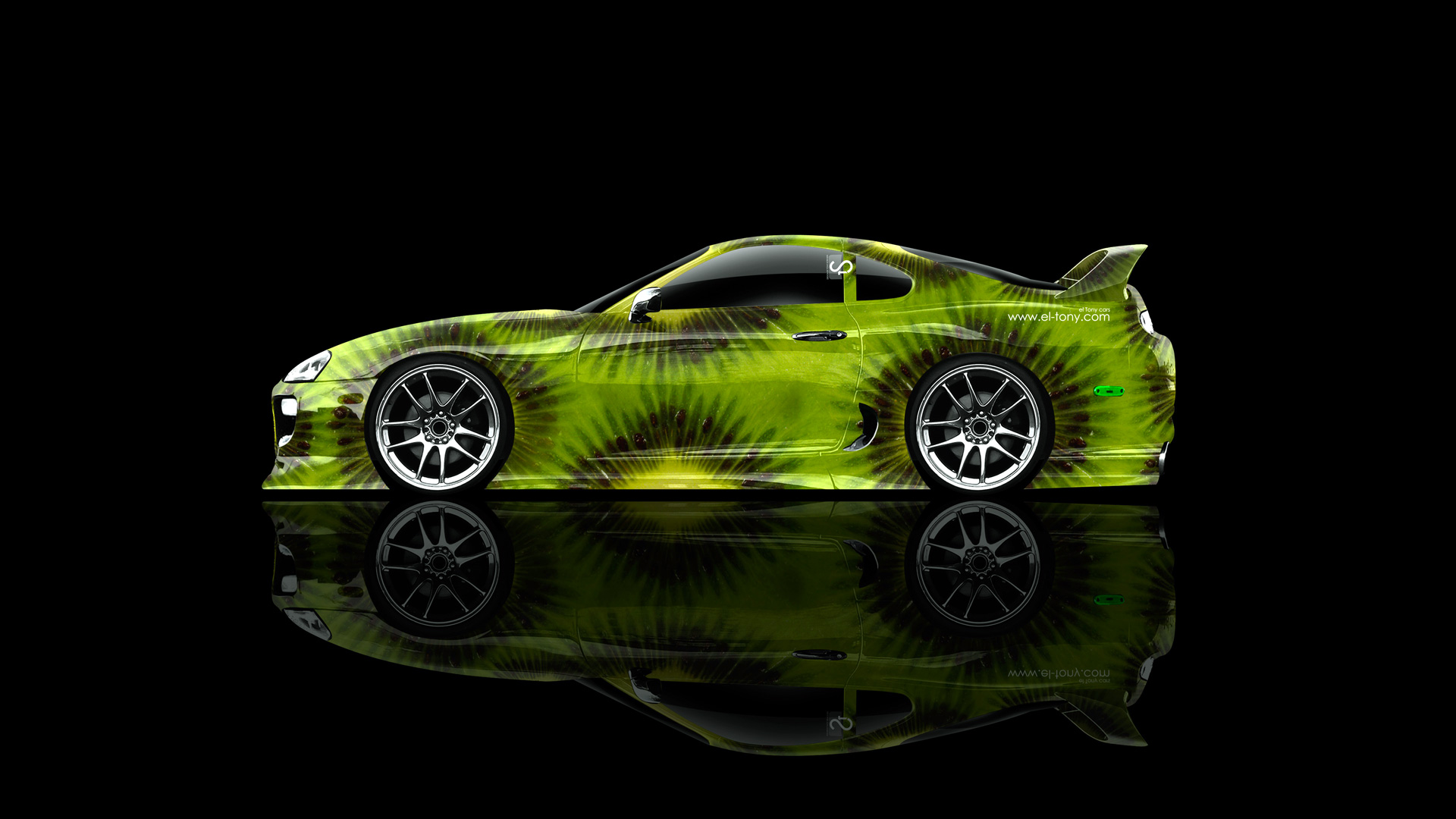 Toyota Supra JDM Side Kiwi Aerography Car 2014