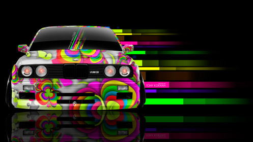 BMW-M3-E30-Front-Abstract-Aerography-Car-2014-Multicolors-HD-Wallpapers-design-by-Tony-Kokhan-[www.el-tony.com]