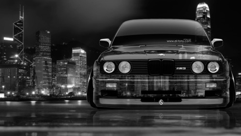 BMW-M3-E30-Front-Crystal-City-Car-2014-Photoshop-HD-Wallpapers-design-by-Tony-Kokhan-[www.el-tony.com]