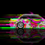 BMW M3 E30 Side Super Abstract Car 2014