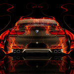 BMW M6 Back Fire Abstract Car 2014