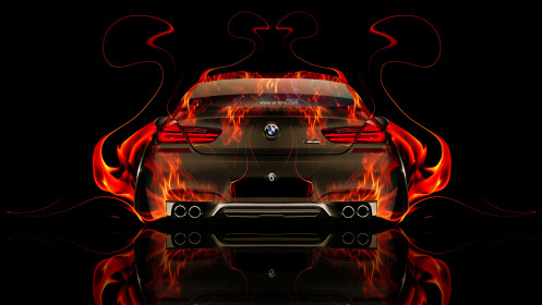BMW-M6-Back-Fire-Abstract-Car-2014-HD-Wallpapers-design-by-Tony-Kokhan-[www.el-tony.com]