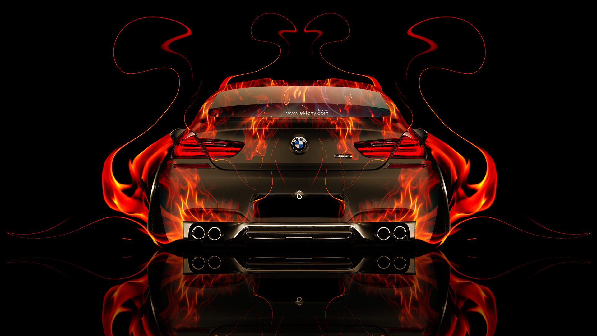 Bon BMW M6 Back Fire Abstract Car 2014 HD