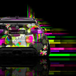 BMW X6 Back Abstract Aerography Car 2014