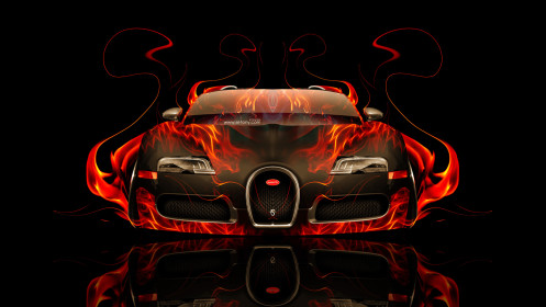 Bugatti-Veyron-Front-Fire-Abstract-Car-2014-HD-Wallpapers-design-by-Tony-Kokhan-[www.el-tony.com]