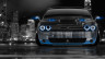 Dodge-Challenger-Muscle-Front-Crystal-City-Car-2014-Blue-Neon-HD-Wallpapers-design-by-Tony-Kokhan-[www.el-tony.com]