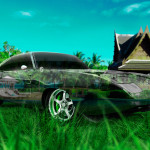 Dodge Charger Daytona Muscle Crystal Nature Car 2014