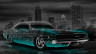 Dodge-Charger-SRT-Retro-Muscle-Crystal-City-Car-2014-Azure-Neon-HD-Wallpapers-design-by-Tony-Kokhan-[www.el-tony.com]