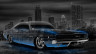 Dodge-Charger-SRT-Retro-Muscle-Crystal-City-Car-2014-Blue-Neon-HD-Wallpapers-design-by-Tony-Kokhan-[www.el-tony.com]