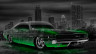 Dodge-Charger-SRT-Retro-Muscle-Crystal-City-Car-2014-Green-Neon-HD-Wallpapers-design-by-Tony-Kokhan-[www.el-tony.com]