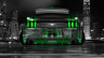 Ford-Mustang-Muscle-Back-Crystal-City-Car-2014-Green-Neon-HD-Wallpapers-design-by-Tony-Kokhan-[www.el-tony.com]