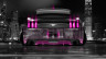 Ford-Mustang-Muscle-Back-Crystal-City-Car-2014-Pink-Neon-HD-Wallpapers-design-by-Tony-Kokhan-[www.el-tony.com]