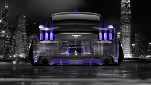Ford-Mustang-Muscle-Back-Crystal-City-Car-2014-Violet-Neon-HD-Wallpapers-design-by-Tony-Kokhan-[www.el-tony.com]