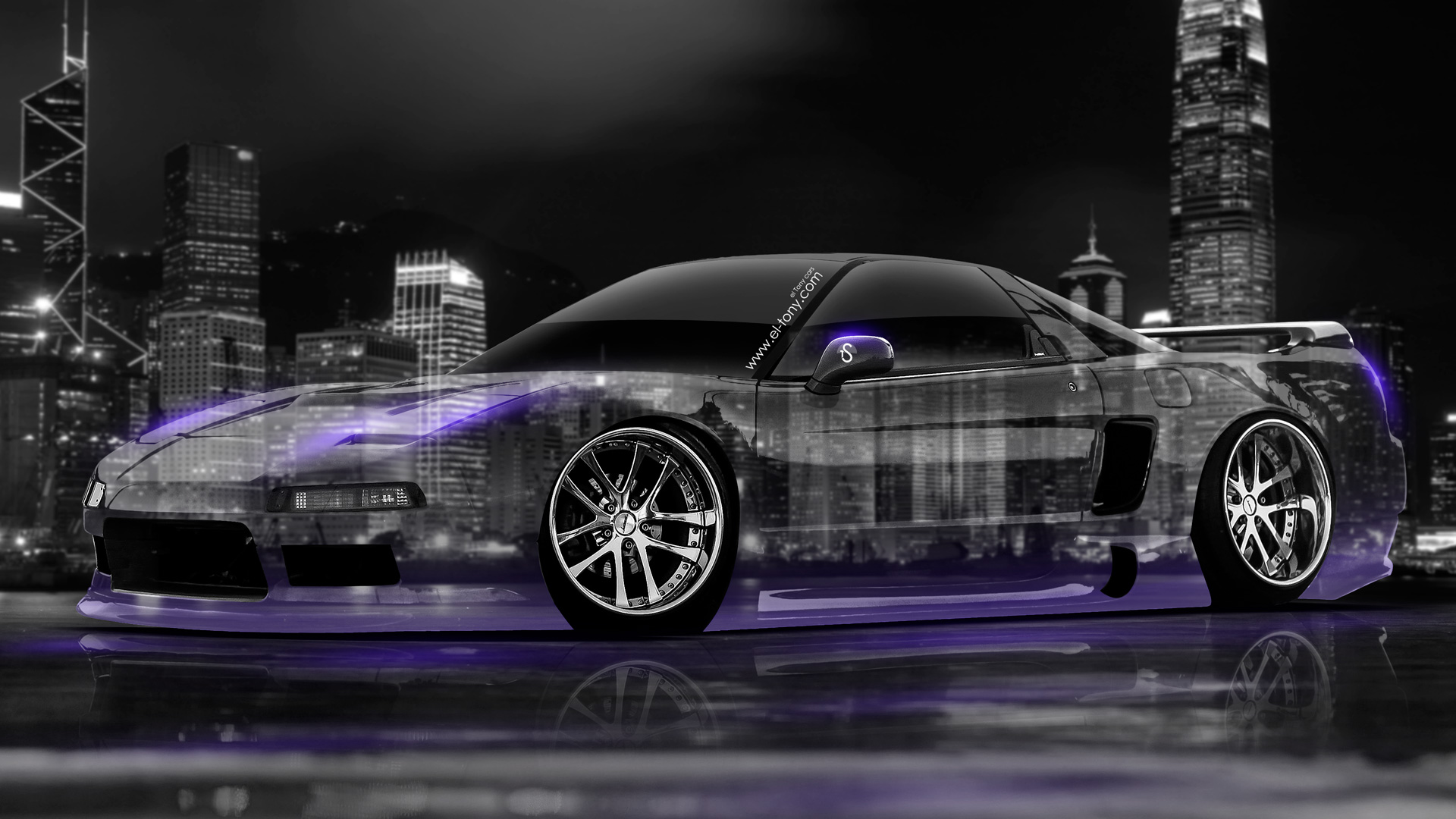 Superbe Honda NSX JDM Crystal City Car 2014 Violet .