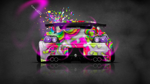 Honda-S2000-Back-JDM-Style-Domo-Kun-Toy-Car-2014-Art-Multicolors-HD-Wallpapers-design-by-Tony-Kokhan-[www.el-tony.com]