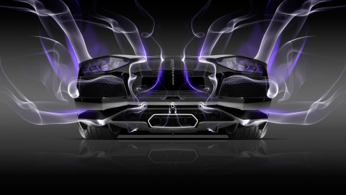 Lamborghini-Aventador-Back-Violet-Smoke-Car-2014-HD-Wallpapers-design-by-Tony-Kokhan-[www.el-tony.com]