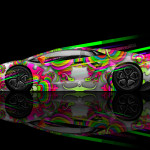 Lamborghini Aventador Side Super Speed Aerography Car 2014