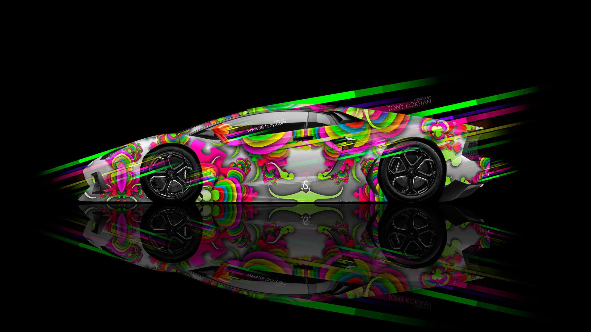 Incroyable Lamborghini Aventador Side Super Speed Abstract Aerography Car