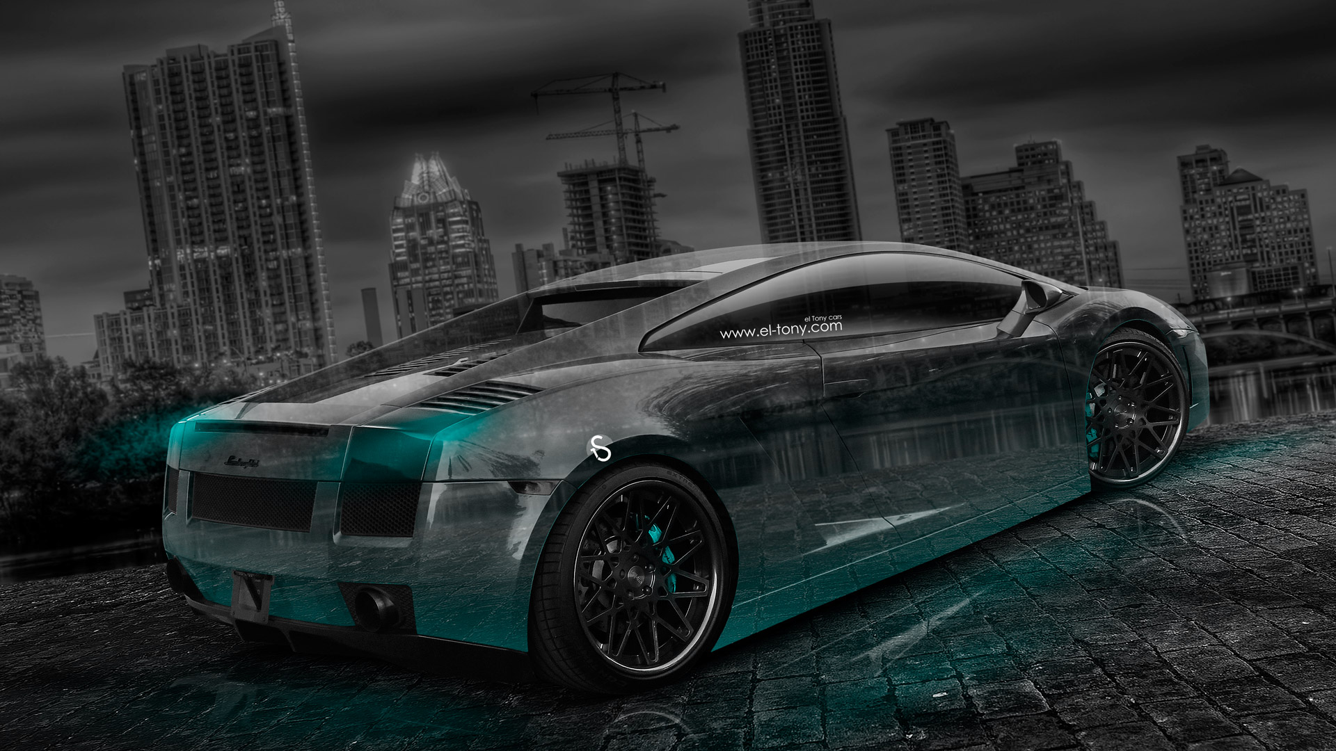 Beau ... Lamborghini Gallardo Crystal City Car 2014 Art Azure