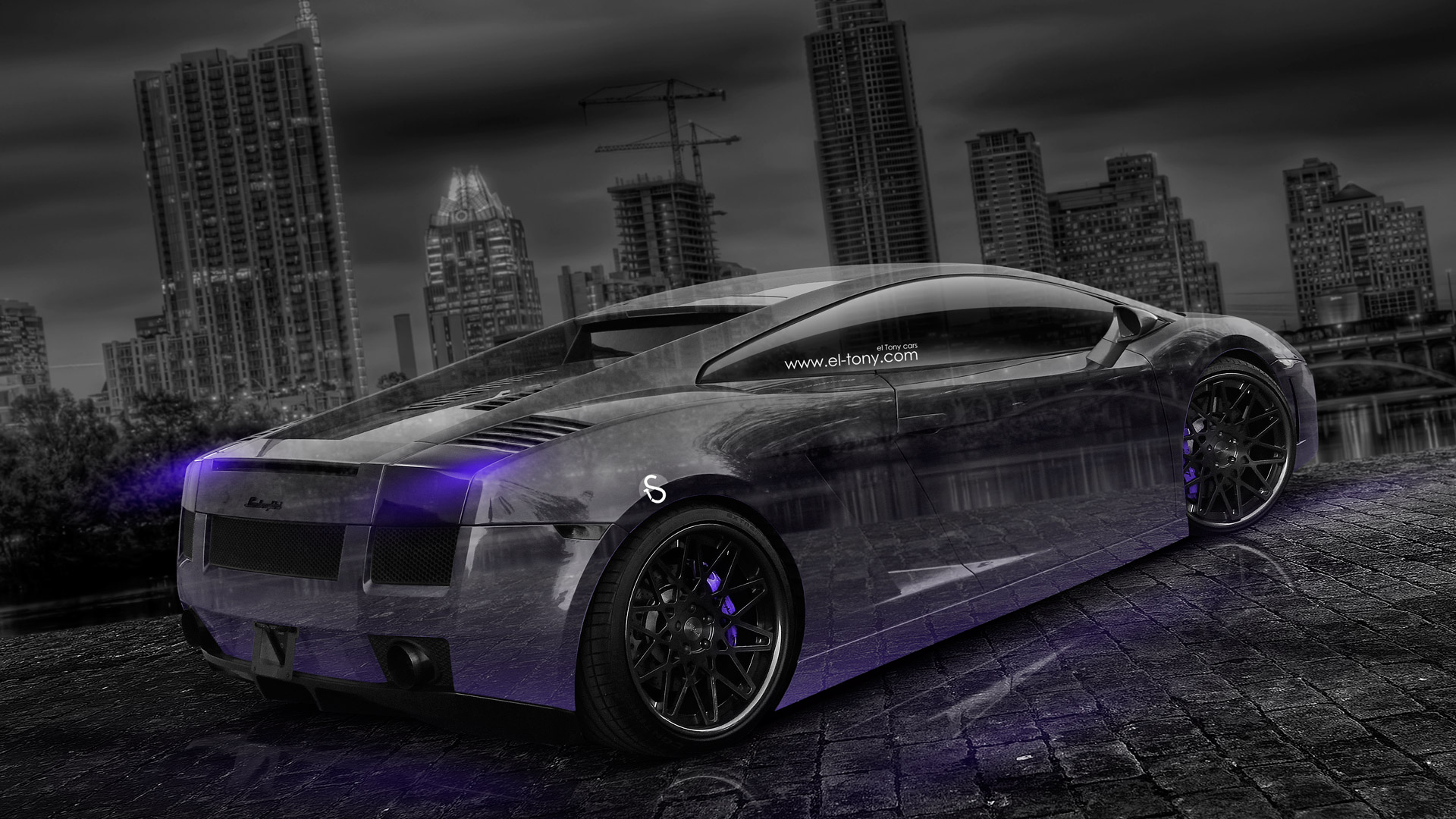 Lamborghini Gallardo Crystal City Car 2014 Art Violet
