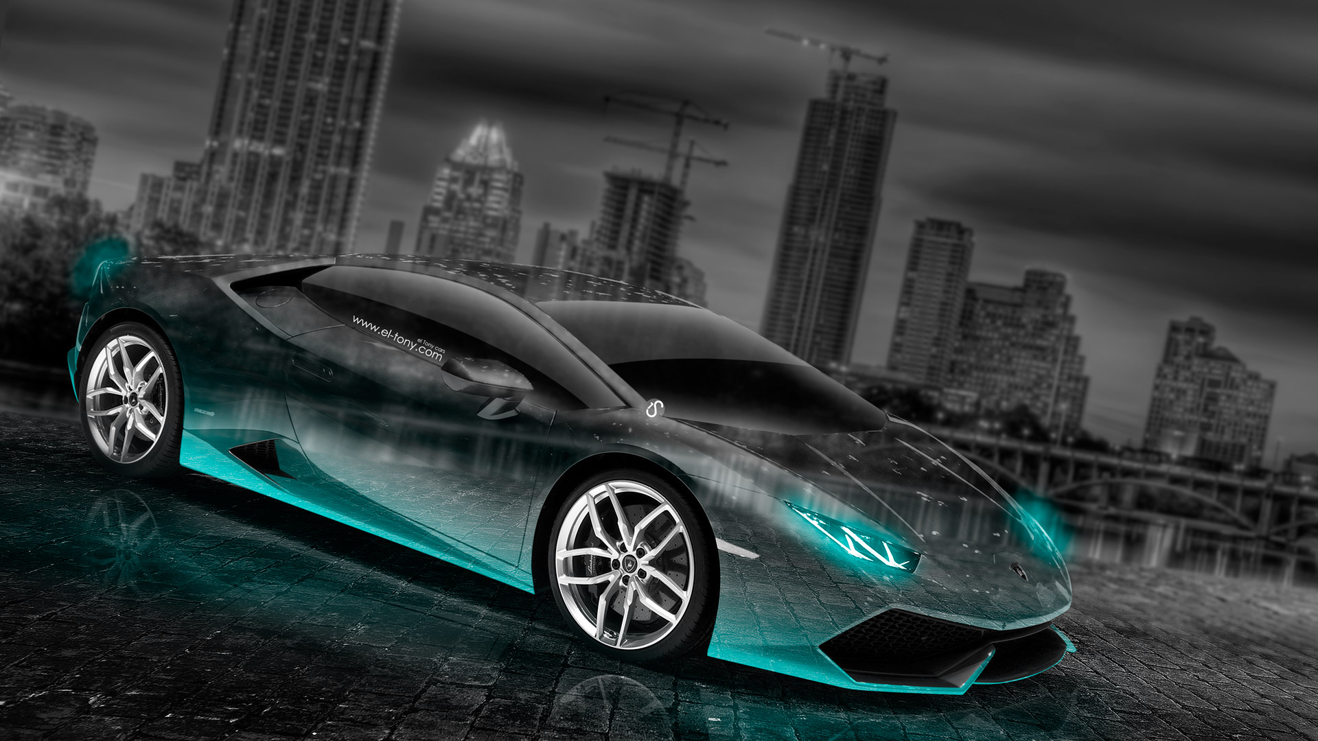Wonderful Lamborghini Huracan Crystal City Car 2014 Azure Neon