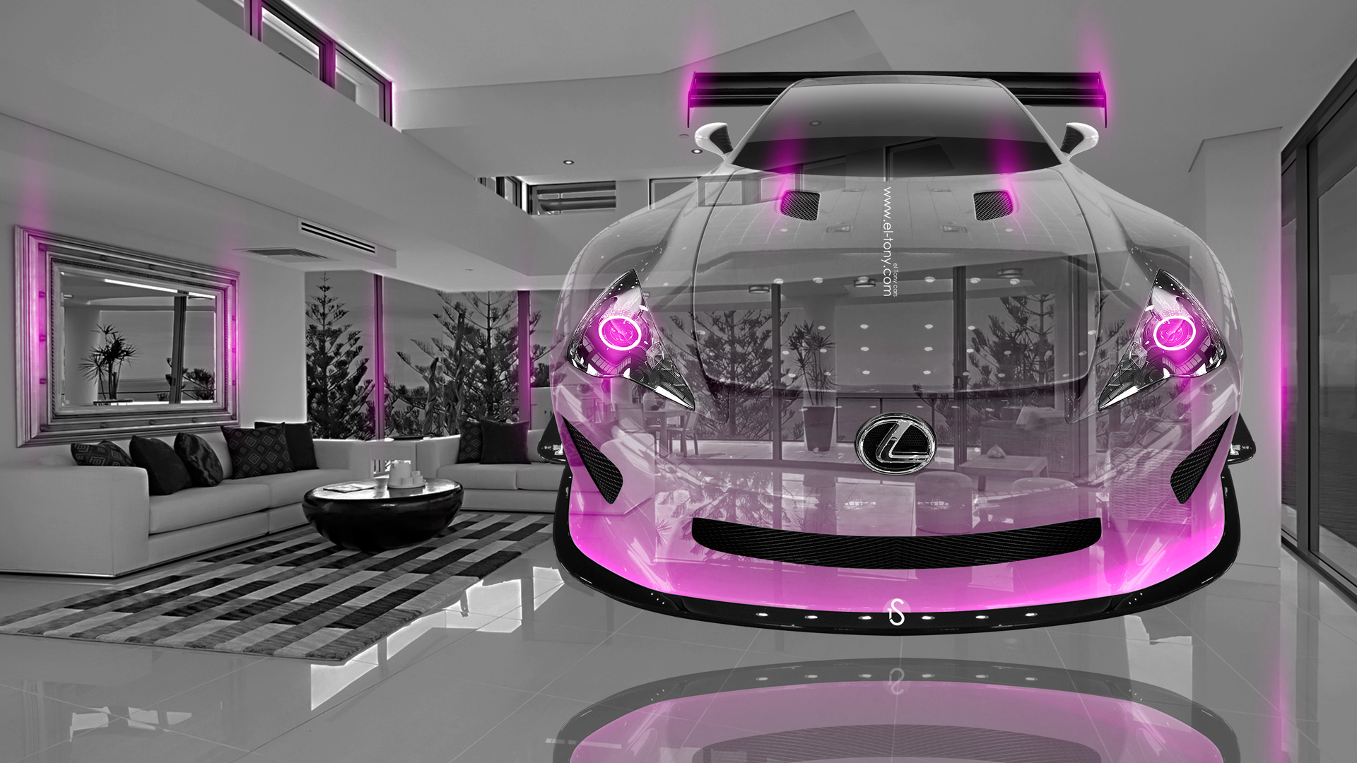 ... Lexus LFA Crystal Home Fly Car 2014