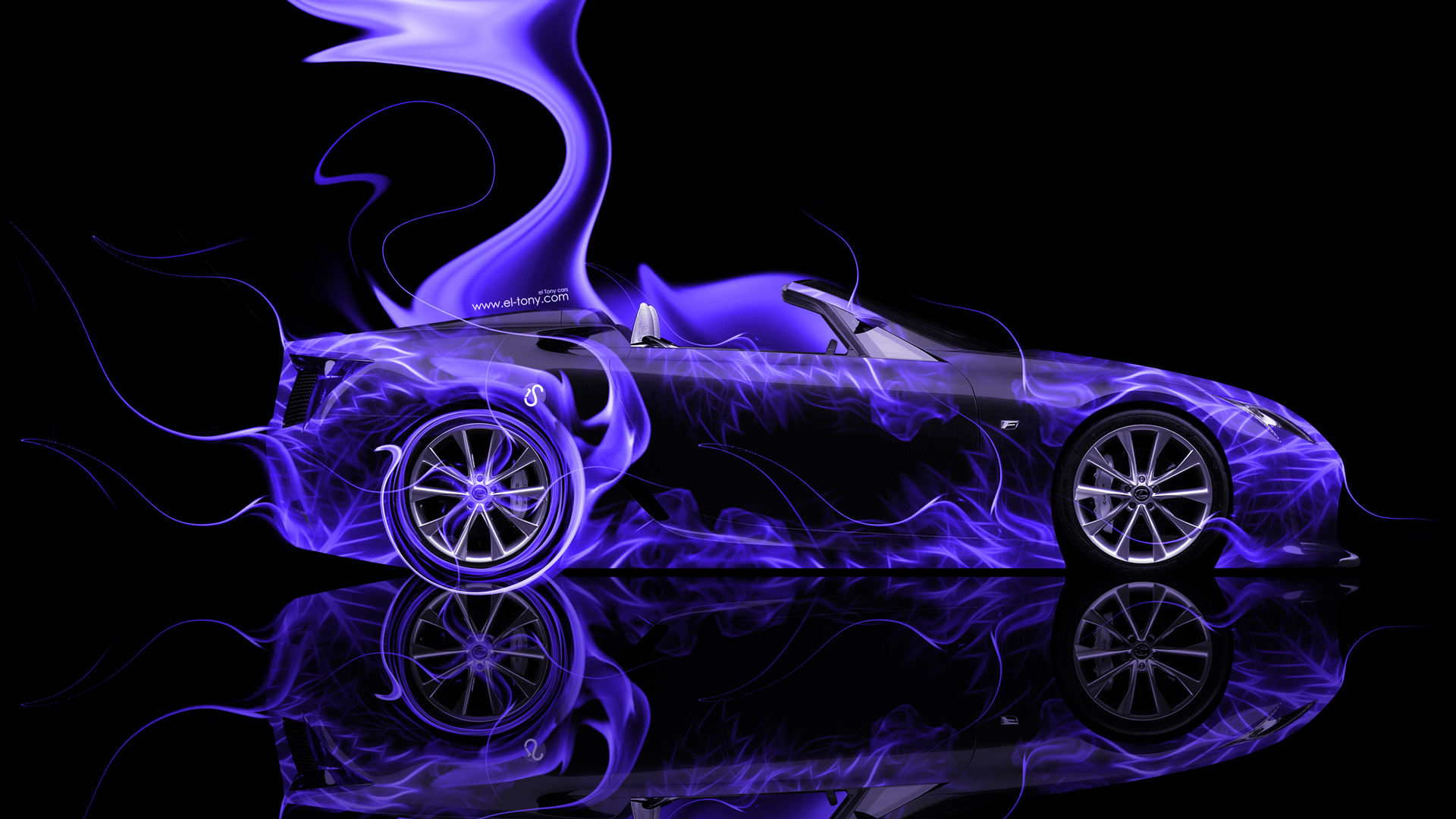Lexus LFA Roadster Side Super Fire Abstract Car 2014 | el Tony
