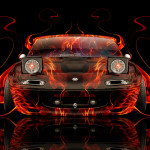Mazda Miata JDM Front Fire Abstract Car 2014