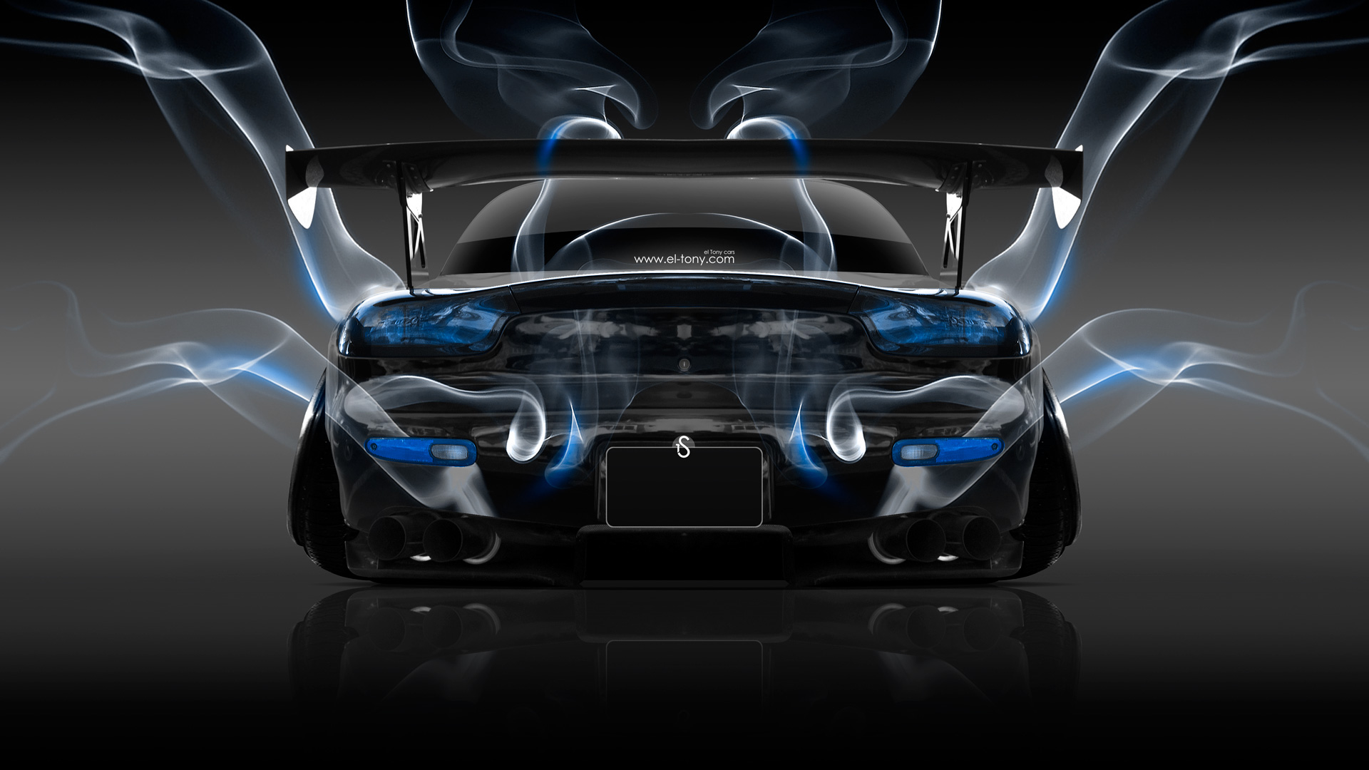 Mazda RX7 JDM Back Smoke Car 2014 | el Tony