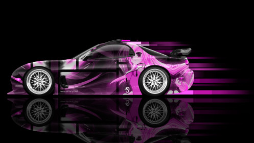 Mazda-RX7-JDM-Side-Anime-Girl-Aerography-Car-2014-Art-Pink-Colors-HD-Wallpapers-design-by-Tony-Kokhan-[www.el-tony.com]