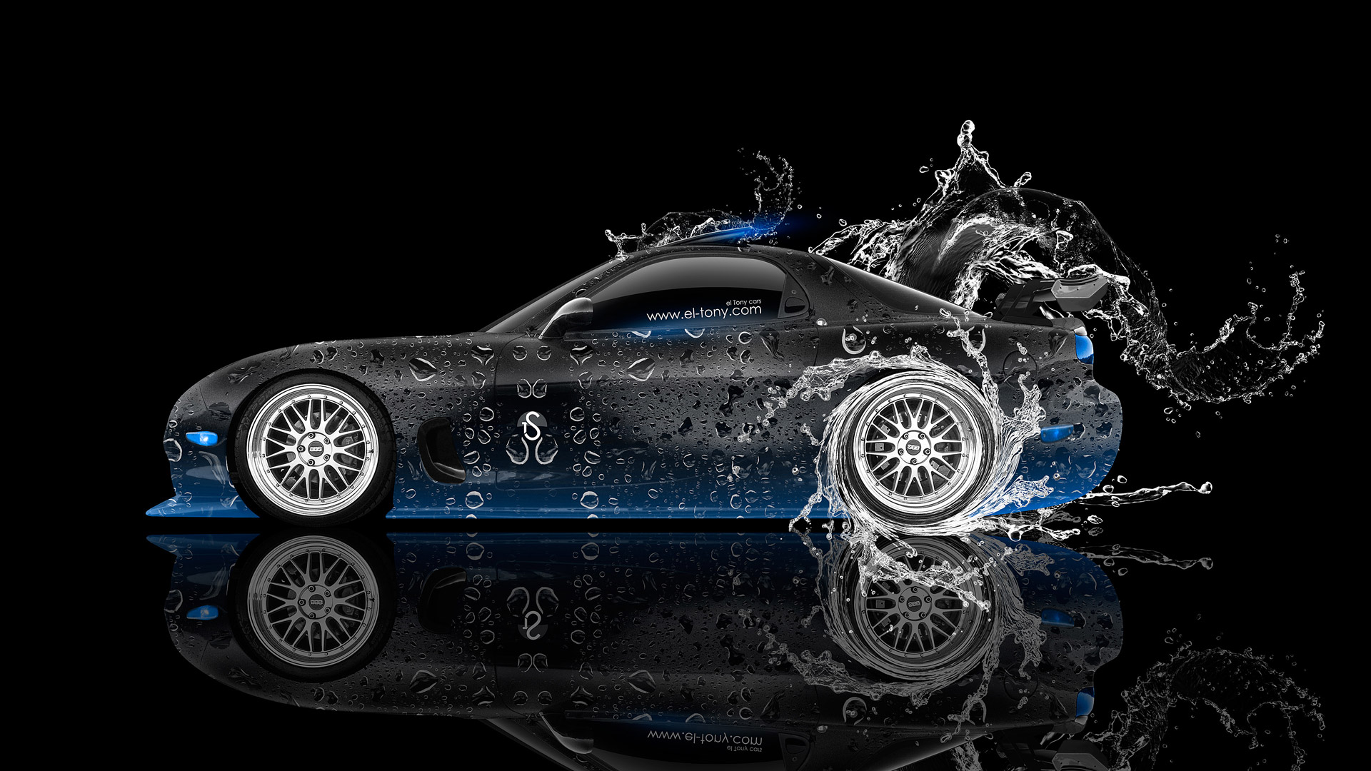 Mazda RX7 JDM Side Water Drift Car 2014
