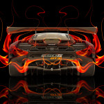 McLaren 650S GT3 Back Fire Abstract Car 2014