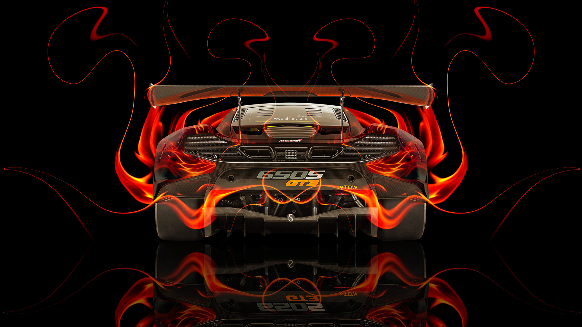 Marvelous McLaren 650S GT3 Back Fire Abstract Car 2014