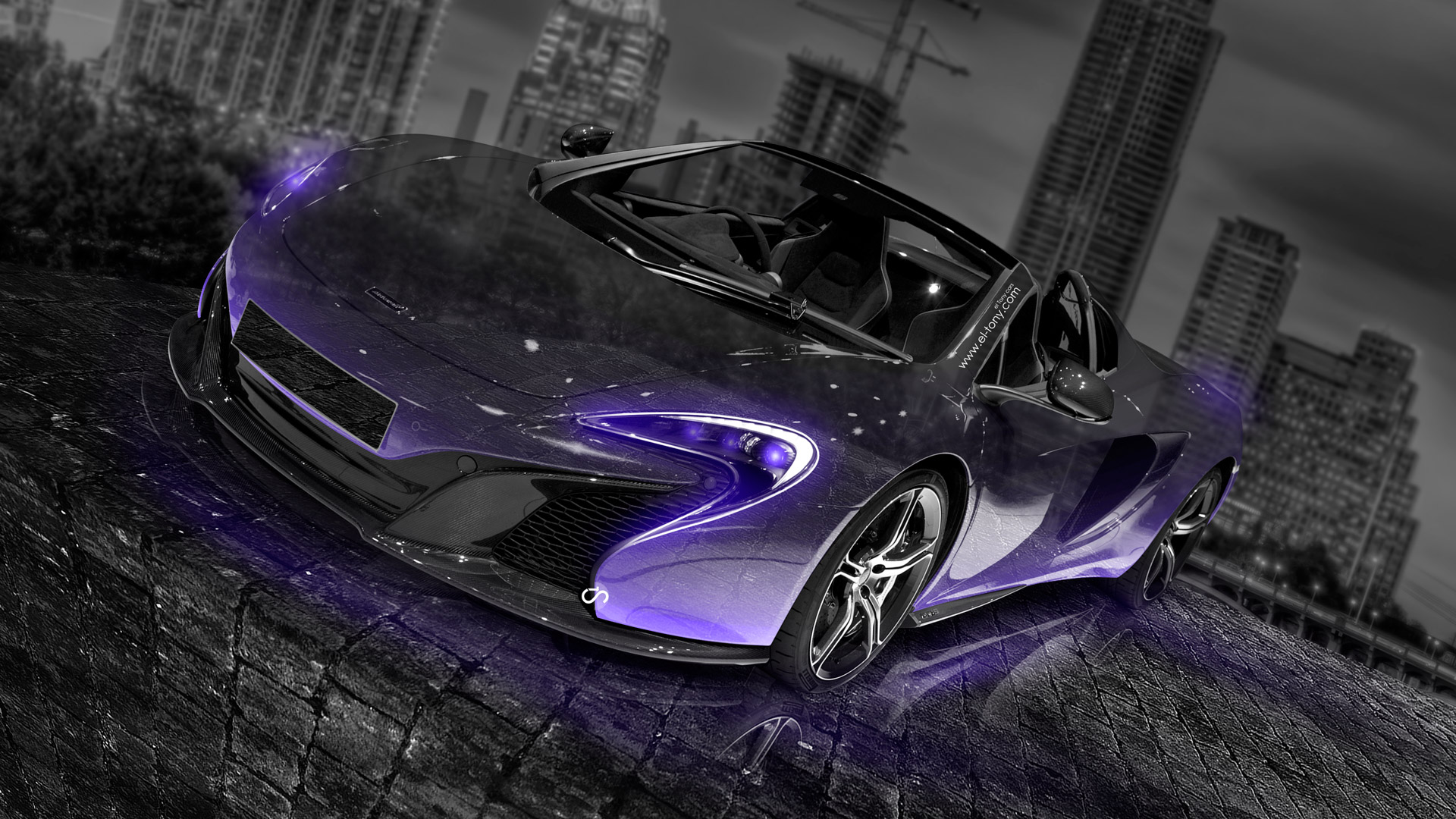 Delicieux McLaren 650S Spider Crystal City Car 2014 Violet