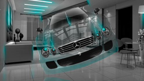 Mercedes-Benz-CLK-GTR-Crystal-Home-Fly-Car-2014-Photoshop-Azure-Neon-HD-Wallpapers-design-by-Tony-Kokhan-[www.el-tony.com]