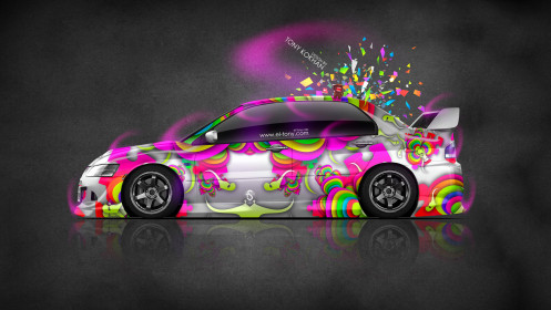 Mitsubishi-Lancer-Evolution-JDM-Side-Domo-Kun-Toy-Car-2014-Multicolors-HD-Wallpapers-design-by-Tony-Kokhan-[www.el-tony.com]