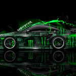 Monster Energy Porsche 911 GT2 Side Plasitc Car 2014