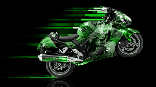 Moto-Suzuki-Hayabusa-Side-Anime-Aerography-Abstract-Bike-2014-Green-Colors-HD-Wallpapers-design-by-Tony-Kokhan-[www.el-tony.com]