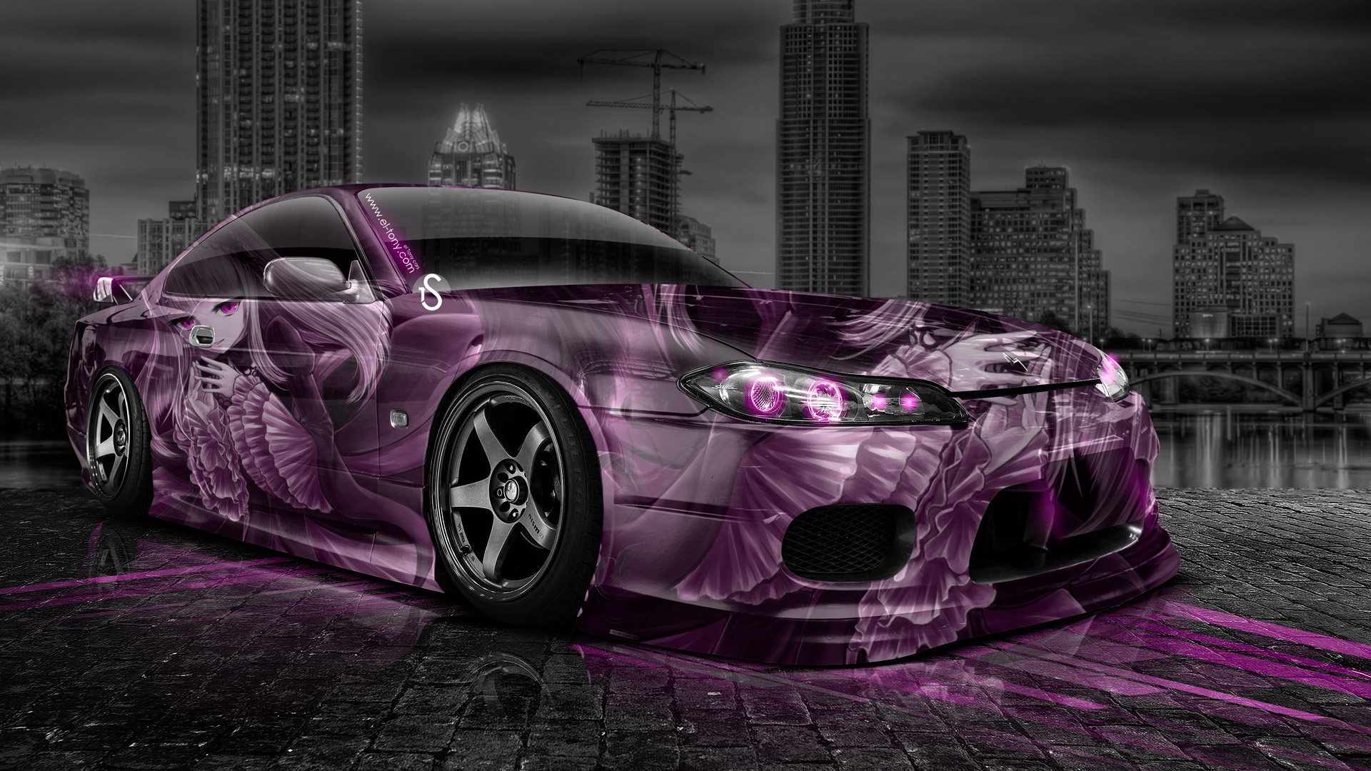 Superbe ... Nissan Silvia S15 JDM Anime Aerography City Car 2014