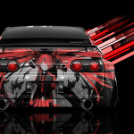 Nissan Skyline GTR R32 JDM Back Anime Aerography Car 2014